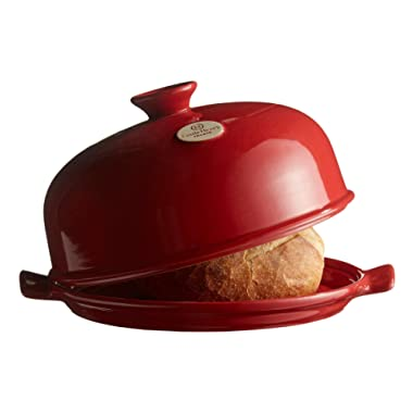 Emile Henry Made In France Bread Cloche, 13.2 x 11.2  , Burgundy