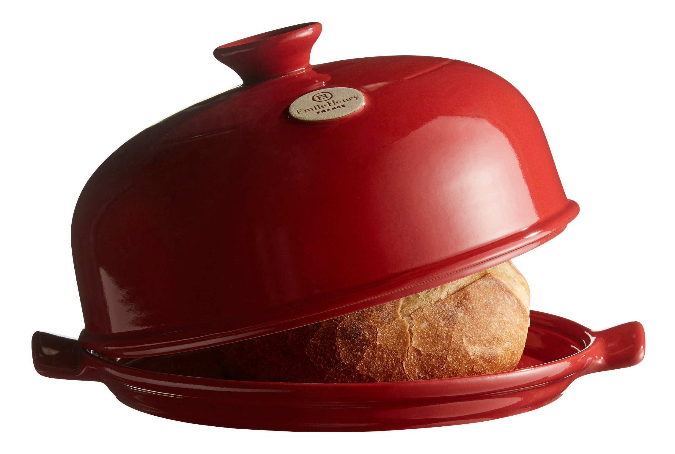 Emile Henry Made In France Flame Bread Cloche, 13.2 x 11.2'', Burgundy