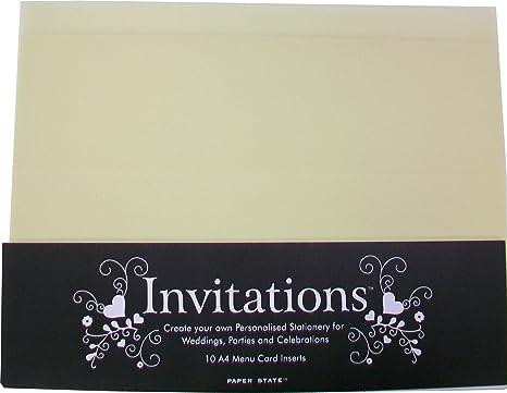 10 Cream Invitation Insert Cards