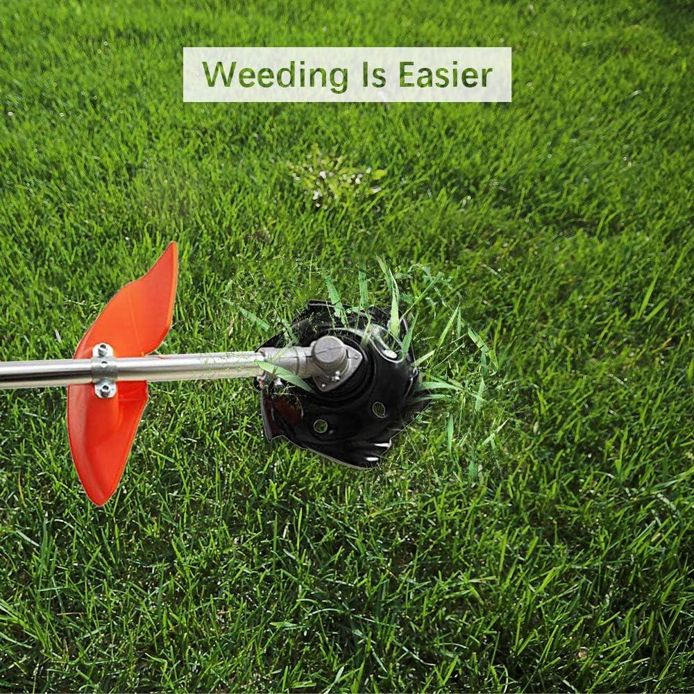 Wankd Cortacésped, cortador de malas hierbas, carcasa para las malas hierbas, ruedas redondeadas, cuchilla para cortacésped, accesorios, desbrozadora para Power Hand Drill, Negro , 23.5cm