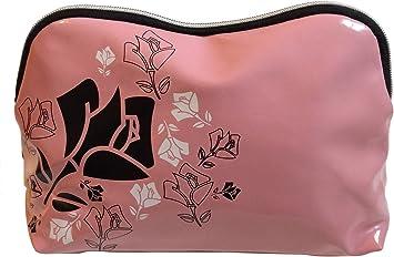 Lancome rosa negro rosa blanca diseño cosméticos maquillaje bolsa: Amazon.es: Belleza
