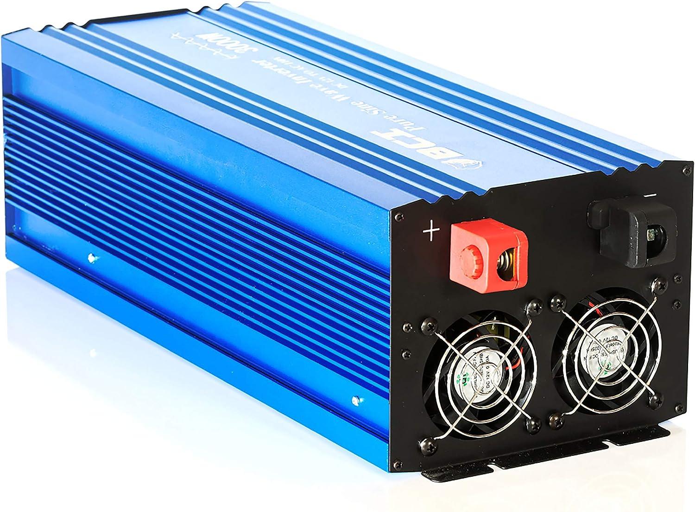 inversor de Onda sinusoidal Pura anticorrosi/ón DC12V to AC220V Buena disipaci/ón de Calor Convierte Voltaje CC a Convertidor CC//CA de 3000 W