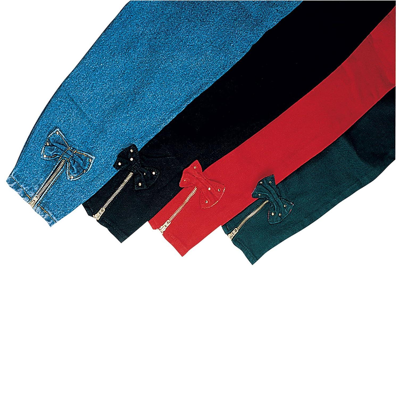 100/% Baumwolle M/ÄDCHENJEANS Jeanshose Hose mit APPLIKATIONEN 116, Gr/ün verschiedene Farben