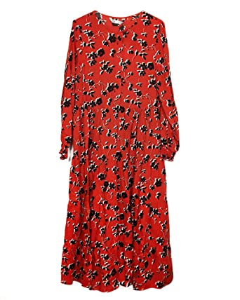 099ab6fb Zara Women's Floral Print Dress 3198/043 Red: Amazon.co.uk: Clothing