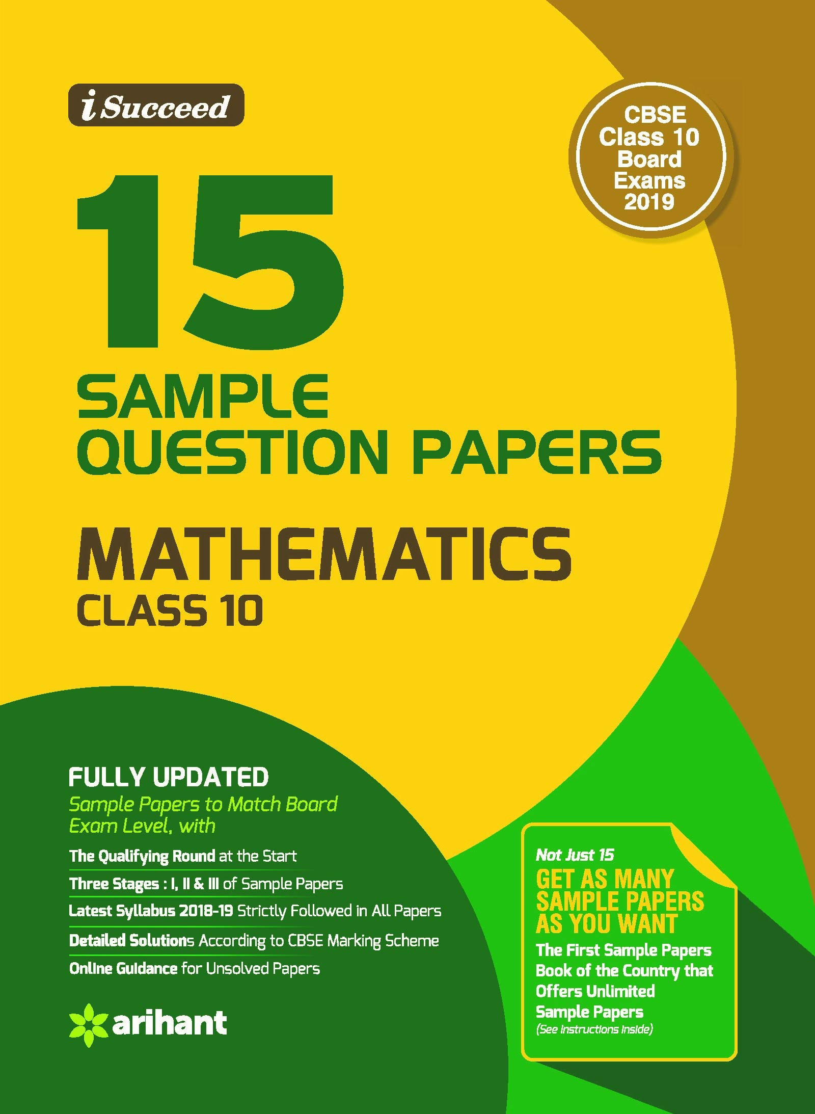 15 Sample Question Papers Mathematics Class 10th CBSE: Amazon in