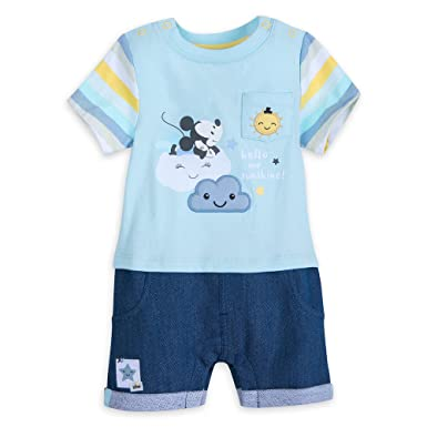 5c239180a Amazon.com  Mickey Mouse Disney Romper for Baby  Clothing