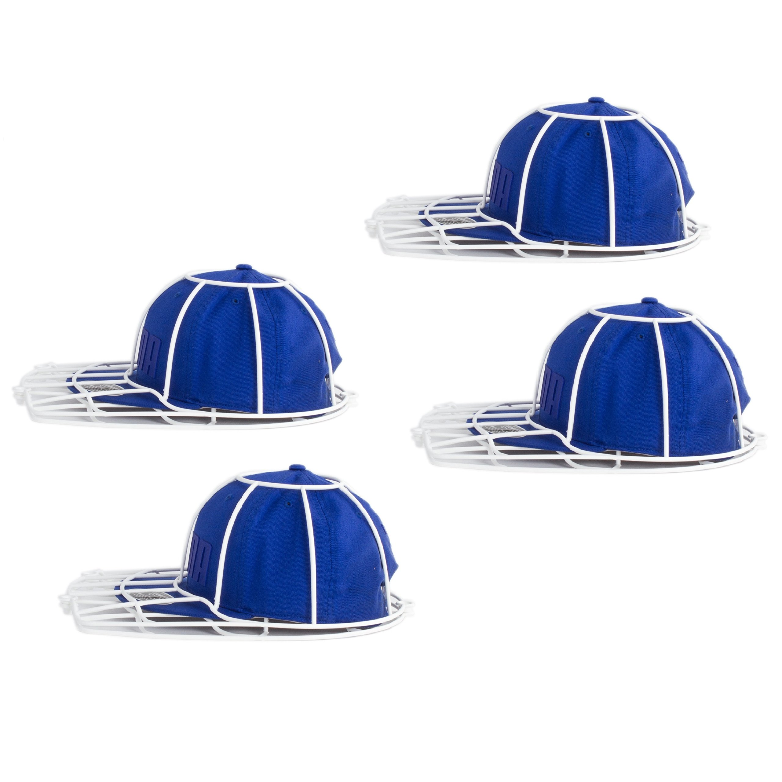 Imperial Home Multi Pack Baseball Cap Washer Rack, Fitted Hat Cleaner Frame Protector (4)