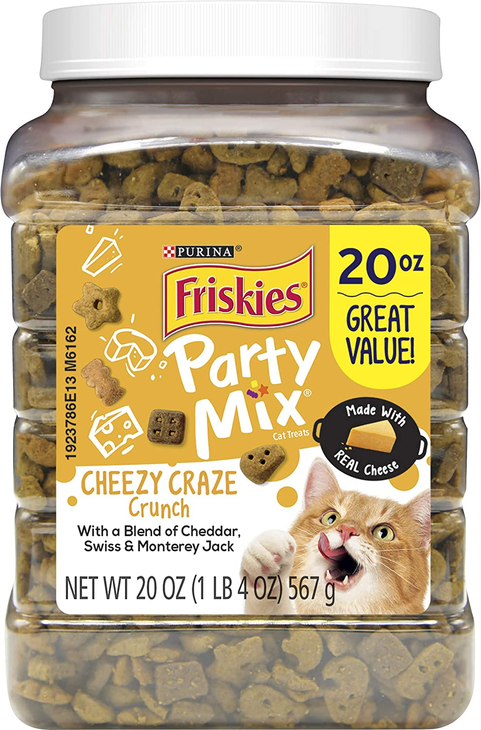 Purina Friskies Made in USA Cat Treats; Party Mix Cheezy Craze Crunch
