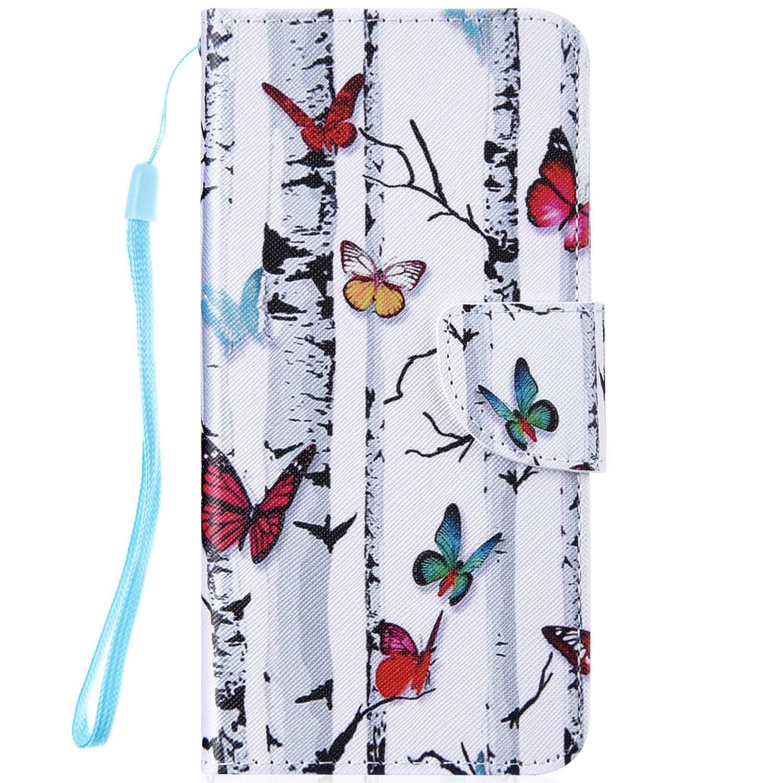 Felfy Kompatibel mit Galaxy Note 8 H/ülle,Kompatibel mit Galaxy Note 8 Handyh/ülle Leder Schutzh/ülle Magnetic Flip Case Gemalt Eule Muster PU Lederh/ülle Klapph/ülle Tasche mit Stand Function