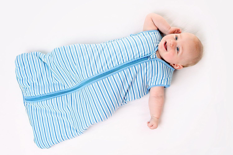 Slumbersac Baby Sleeping Bag 2.5 Tog 0-6 months//70 cm Simply Blue Stripes