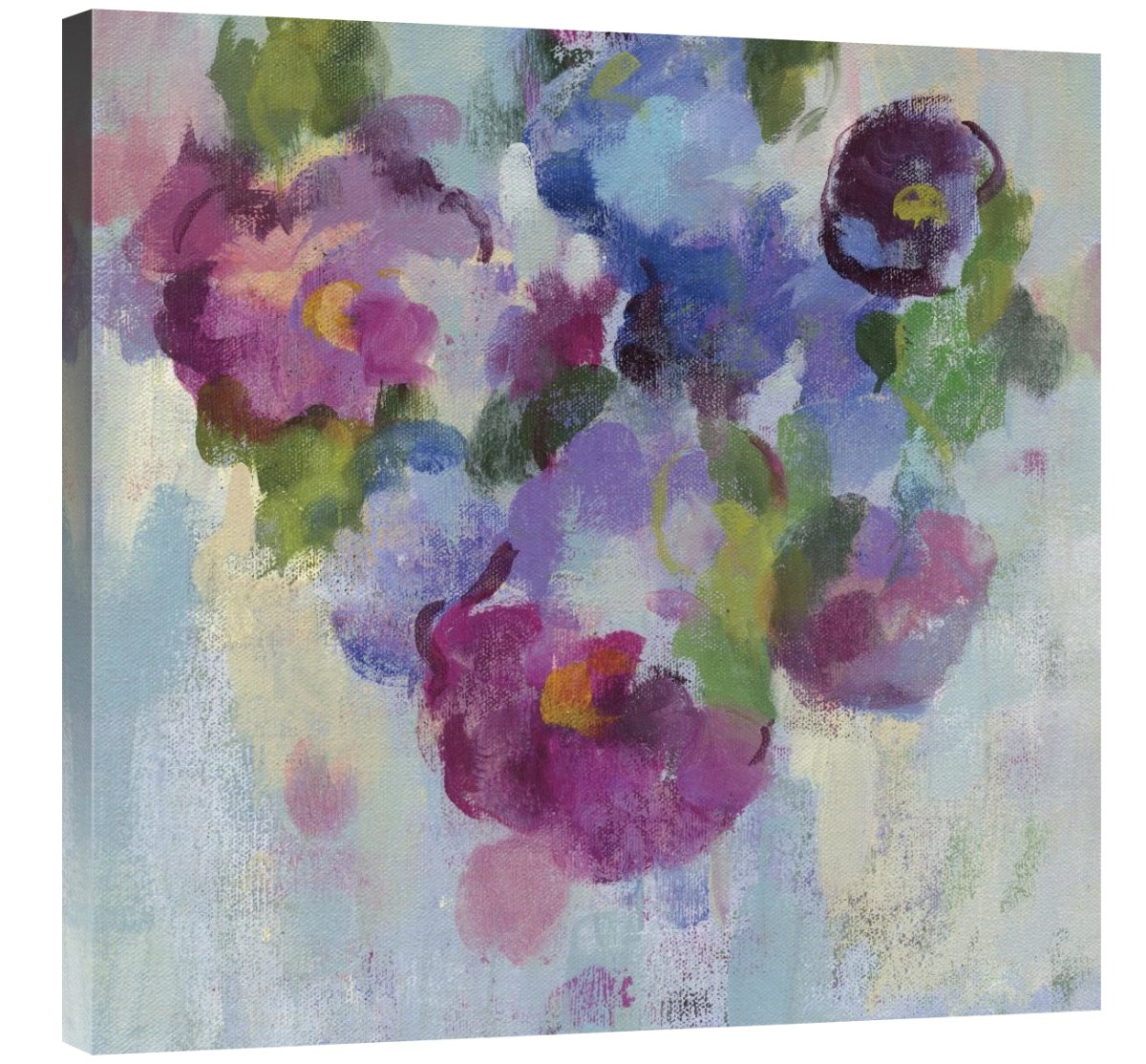 Pink and Blue III Giclee Stretched Canvas Artwork 30 x 30 Global Gallery Silvia Vassileva