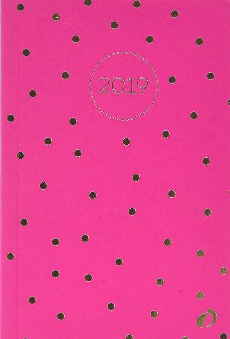Quo Vadis Weekly Small - Agenda 2019, diseño puntos, A6, 10 x 15 cm, color rosa