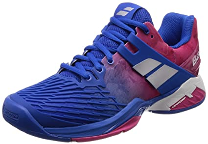 92f9aded9e7b Image Unavailable. Image not available for. Color  Babolat Propulse Fury All  Court Womens Tennis Shoe Princess Blue Fandango Pink