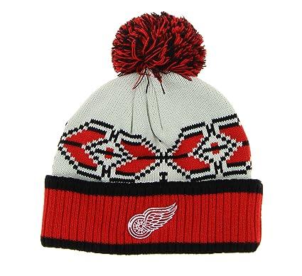 b26d2fce139 Outerstuff Detroit Red Wings NHL Men s Pavel Datsyuk  13 Pom Pom Winter Hat