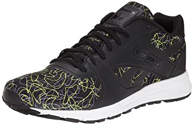 Reebok Men's UL 6000 Cage Classic Shoe,Black/Solar Yellow/Flat Grey/