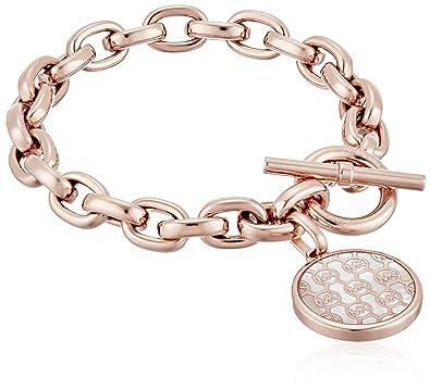 f983d8ff00017 Michael Kors Logo Crystal Charm Link Bracelet