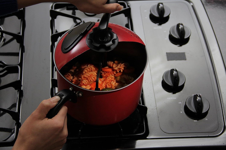 Mac Magic® 4 qt Red Pasta Pot