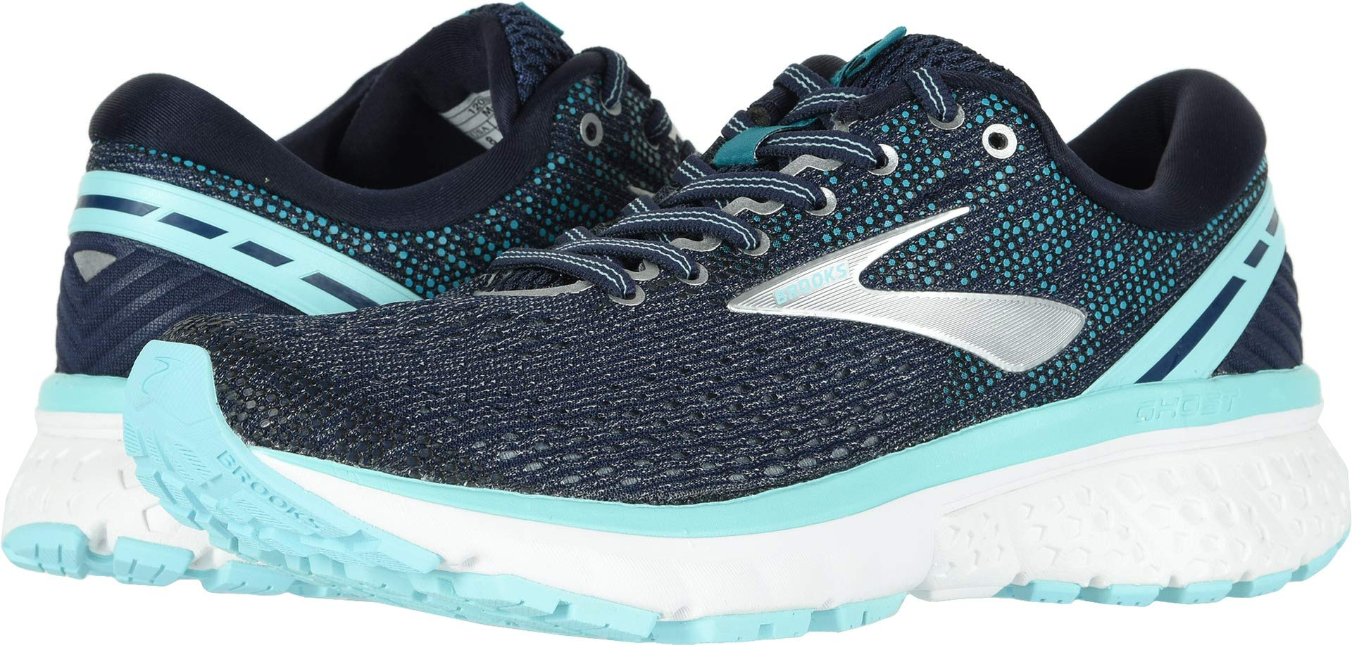 Brooks Women's Ghost 11 Navy/Grey/Blue 5 B US by Brooks (Image #1)