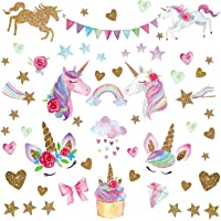 Unicorn Wall Decal66pcs Unicorn Wall Decor Stickers Gifts for Girls Bedroom Home Party Favors