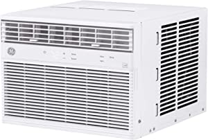 GE 8,000 BTU Smart Window Air Conditioner, Cools up to 350 sq. Ft, Easy Install Kit Included, Energy Star Certified, 8000 115V, White