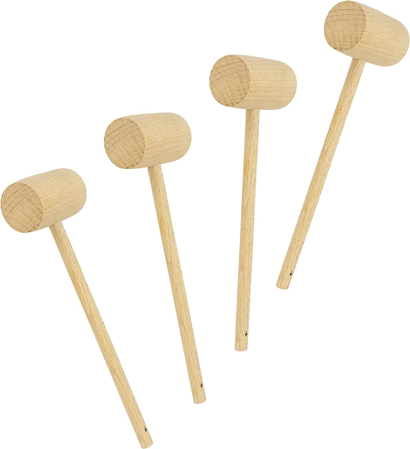 10pcs Natural Wooden Hammer Wood Mallets Small for Seafood Lobster Crackers Lot