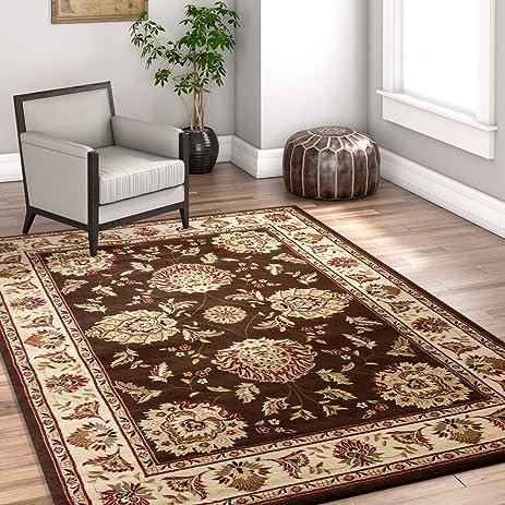Sultan Sarouk Brown Oriental 5x7 53quot X 73quot