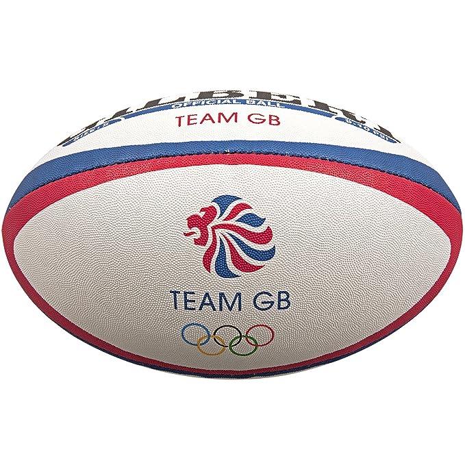 Gilbert Unisex Team GB - Pelota de Rugby Oficial de GB, Talla 5 ...