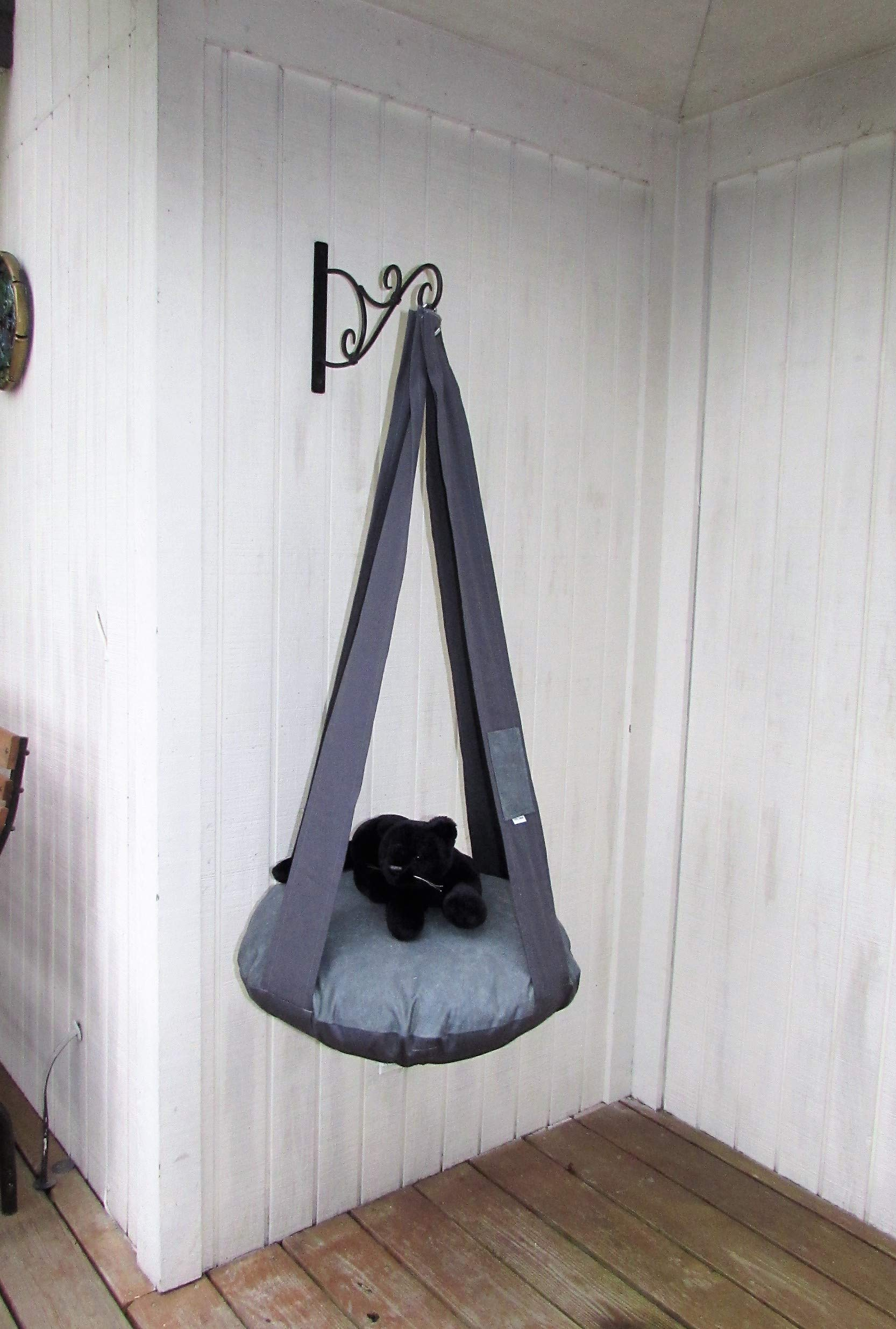 Cat Bed Charcoal & Elephant Skin Gray Hanging Cat Bed Cat Hammock Cat Tree Pet Bed
