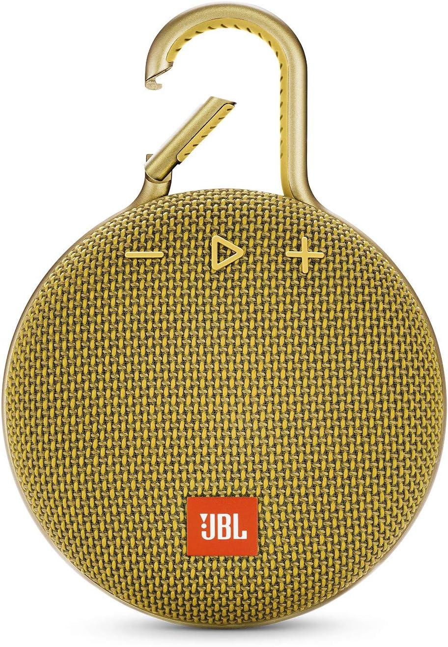 JBL Clip 3 Mono Portable Speaker 3.3W Amarillo - Altavoces portátiles (1.0 Canales, 4 cm, 3,3 W, 120-20000 Hz, 80 dB, Inalámbrico y alámbrico)