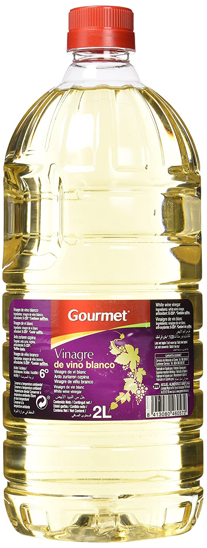 Gourmet Vinagre de Vino Blanco, Acidez 6° - 2000 ml: Amazon.es ...