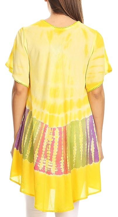 Sakkas 70SE Alohanani Caftan vestido/Cover Up - Amarillo - Un tamaño: Amazon.es: Ropa y accesorios