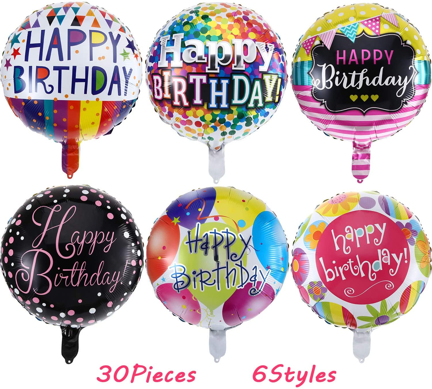 37 Packaged Happy Birthday Balloon Bouquet Shape Helium Balloon