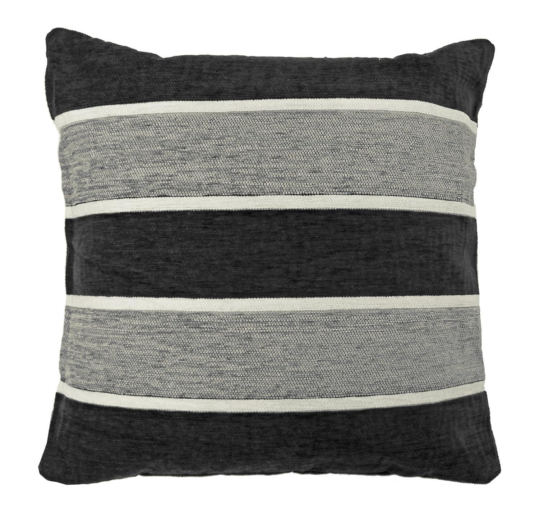 Just Contempo Striped Cushion Cover Black 17x17 inches Amazon