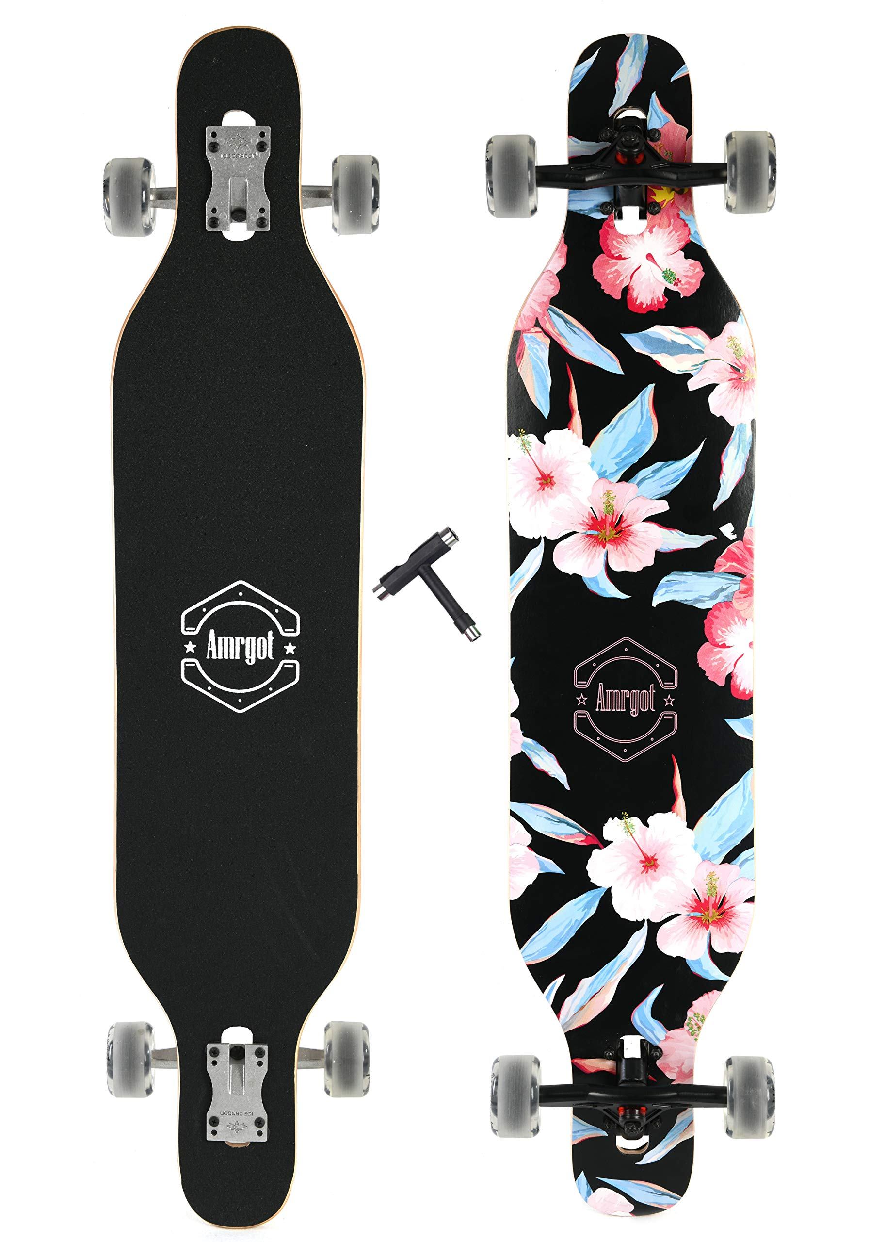 Xtreme Free Professional Speed Drop Down Complete Longboard Skateboard(41 Inches) (5)