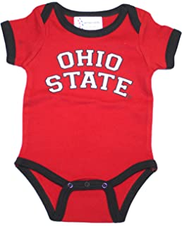 4000ce5d9633 Two Feet Ahead Ohio State Buckeyes Infant Embroidered Ohio State Red  Bodysuit