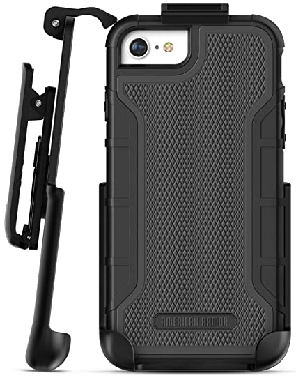 cheap for discount 5b6f7 af6d1 Encased iPhone 6 Belt Clip Case - American Armor² (Heavy Duty) Tough Rugged  Phone Case with Screen Protector and Holster Clip for Apple iPhone6 4.7