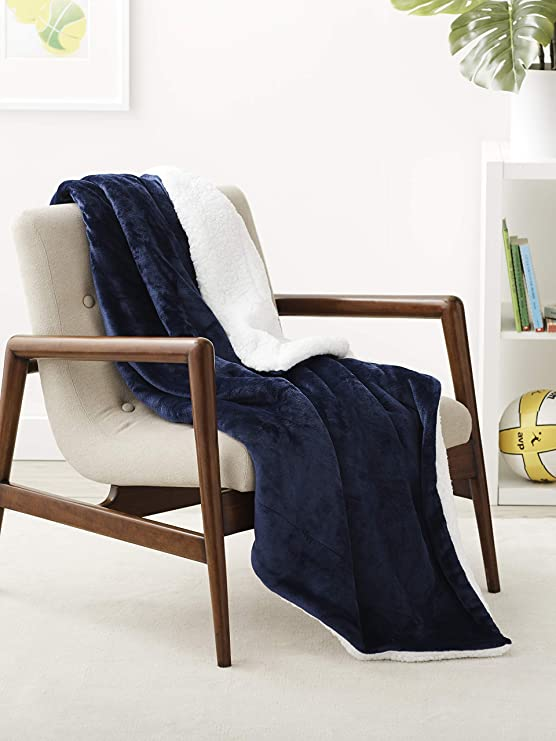 Amazon Basics Ultra-Soft Micromink Sherpa Blanket
