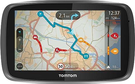"""TomTom GO 500 - GPS para coches de 5"""", mapas de Europa, negro"""