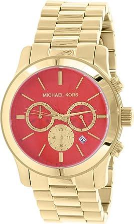 9e0f55f78dab Amazon.com  Michael Kors Women s Runway Gold Vibrant Orange  Michael ...