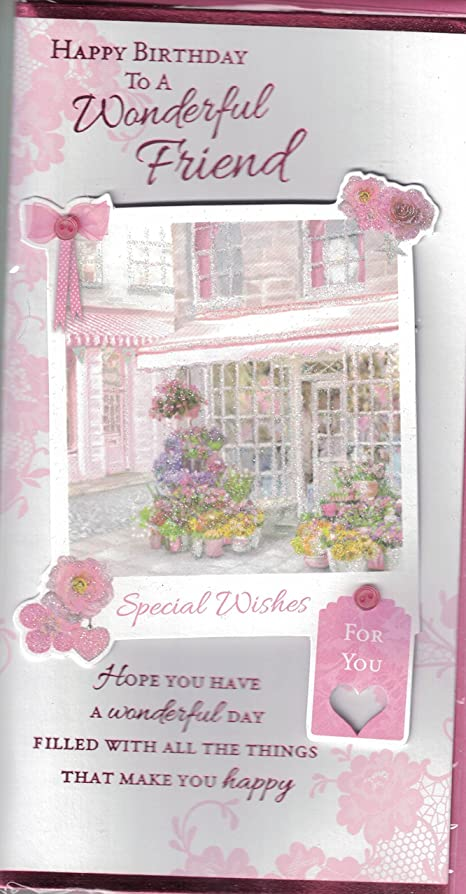 Friend Birthday Card To A Special Friend On Your Birthday – Special Birthday Card for Friend