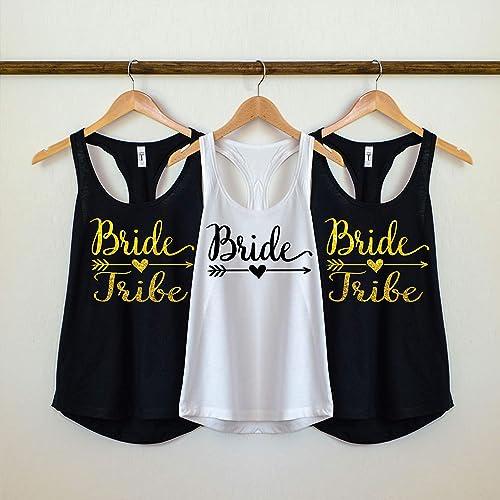 10c90d19 Amazon.com: Bride Tribe Tank Top, Bride Tribe Shirts, Bride Tribe  Bachelorette Party shirts, Bridal Party shirts, bridesmaid shirts,: Handmade