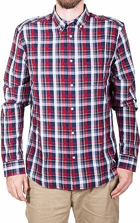 Wrangler Long Sleeve Button Down Shirt Camisa, Azul (Indigo ...