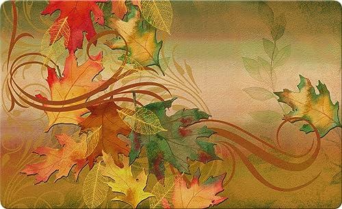 Toland Home Garden Autumn Aria 18 x 30 Inch Decorative Floor Mat Seasonal Fall Leaf Leaves Doormat