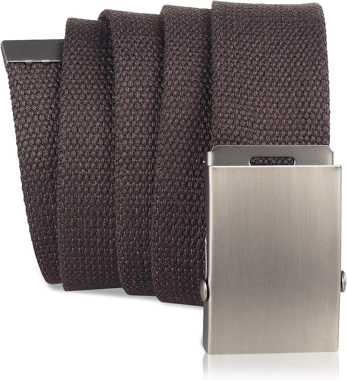 KEYNAT Cintura di Tela con Fibbia Scorrevole in Metallo per Esterno Sport