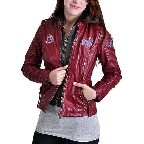 Animales fantásticos damas chaqueta de cuero con Niffler objeto de Animales fantásticos roja - S