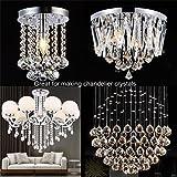 Fushing 100Pcs Stainless Split Rings, Crystal
