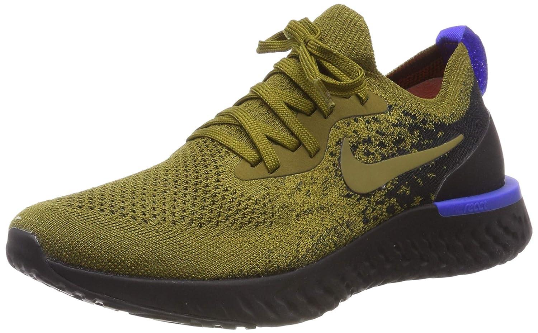 MultiCouleure (Olive Flak Olive Flak noir Hyper Royal 301) Nike Epic React Flyknit, Chaussures de Running Compétition Homme 49.5 EU