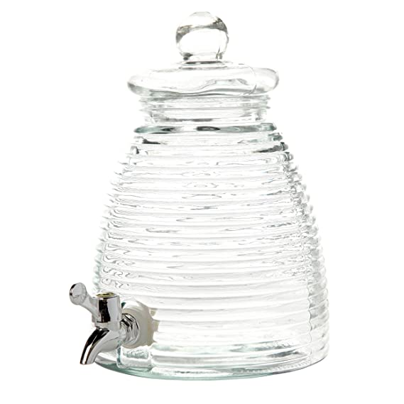 Amazon.com: General Store by Gibson 1 gallon Mason Beverage Dispenser Square Glass, Clear: Kitchen & Dining