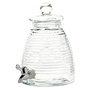 Amazon.com: Gibson Home 102344.02RM General Store 1 gallon Mason Beverage Dispenser Square Glass, Clear: Kitchen & Dining