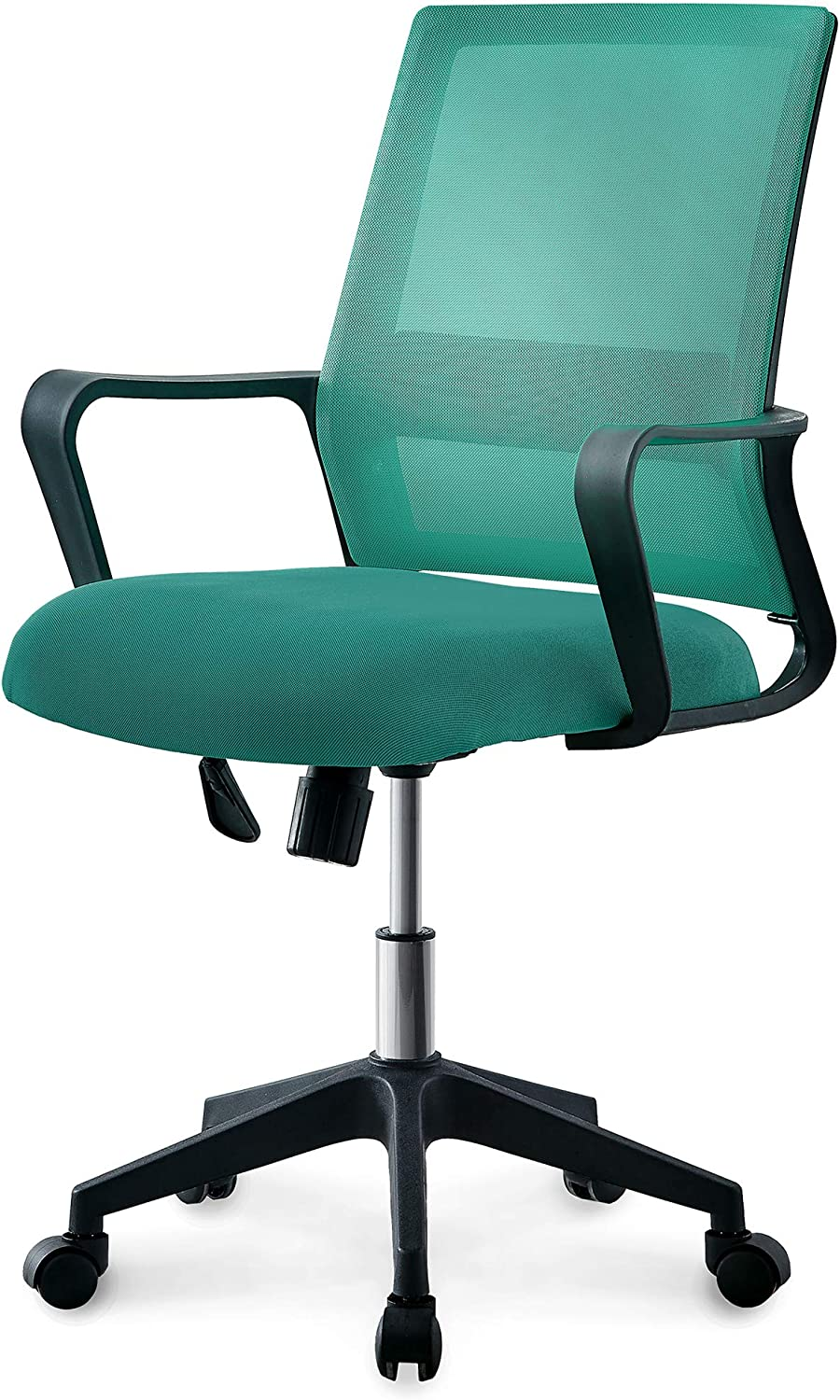 NEO CHAIR Office Chair Computer Desk Chair Gaming – Ergonomic Mid Back Cushion Lumbar Support with Wheels Comfortable Green Mesh Racing Seat Adjustable Swivel Rolling Home Executive